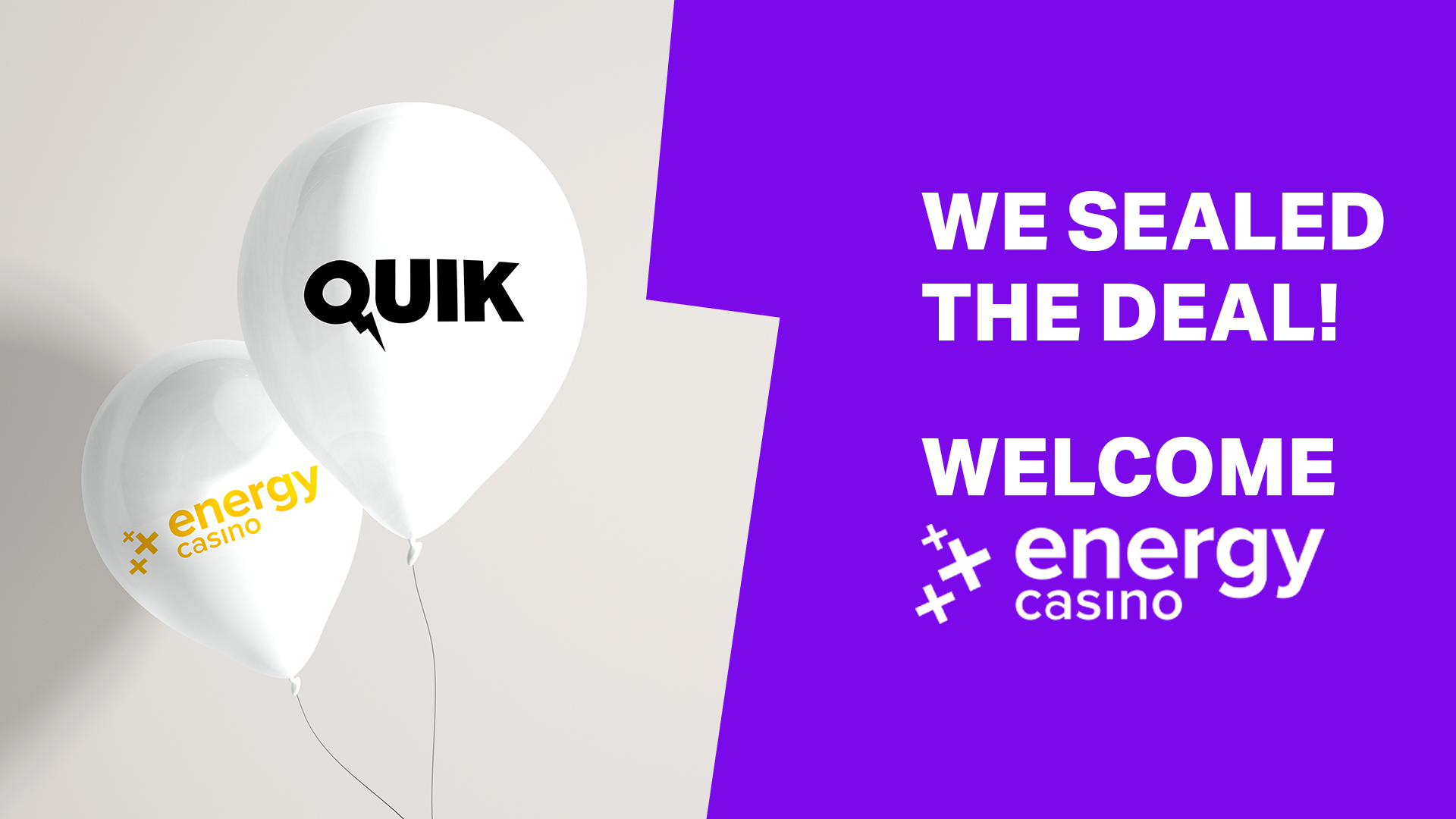 Quik seals a deal with EnergyCasino