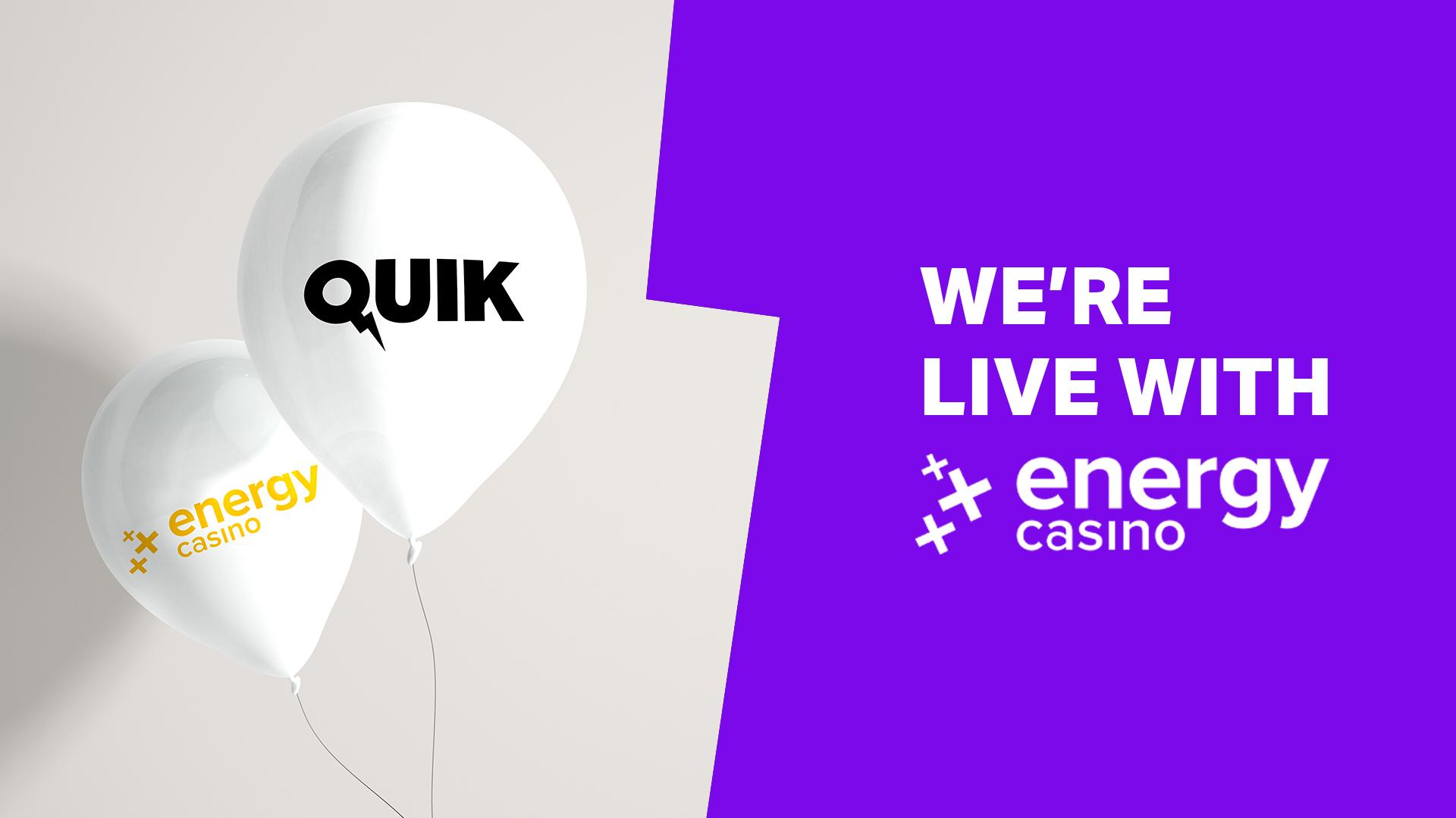 Quik's Unique Live Games have landed at EnergyCasino